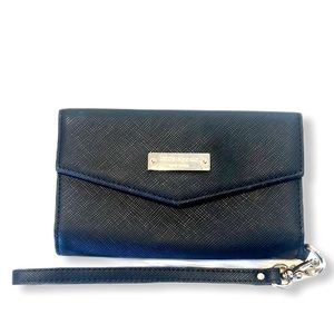 Kate Spade Black and Gold Wristlet